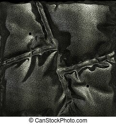 Leather black background or texture 3d illustration