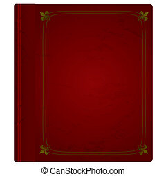 leather book - Maroon hardback book with leather cover and...