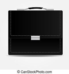 Leather brief case icon.Vector illustration