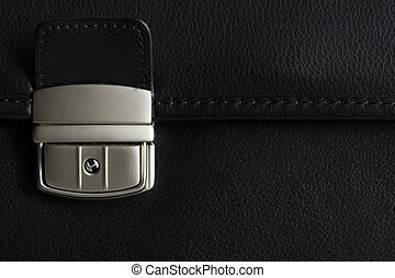 Leather briefcase buckle in detail - briefcase buckle...