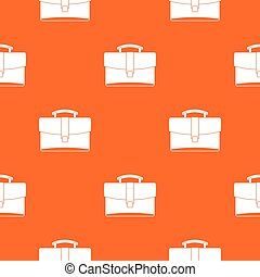 Leather briefcase pattern seamless