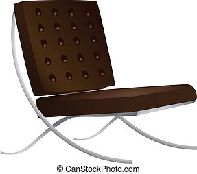 Leather chair for a modern interior. Vector illustration.