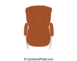 leather chair on white background