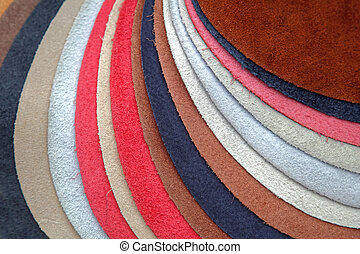 Leather Color Samples Of Fine Leather In Different Colors