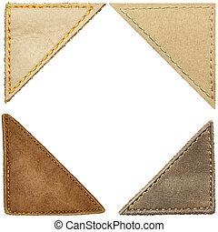 Leather corners