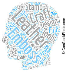 Leather Craft Details text background wordcloud concept