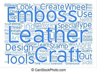 Leather Craft Details Word Cloud Concept Text Background