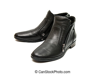 leather female shoes isolated