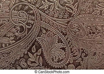 Leather floral background - Leather floral pattern...