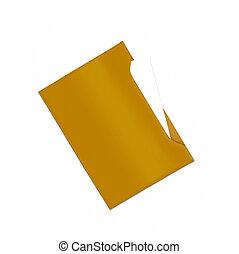 leather folder isolated on white