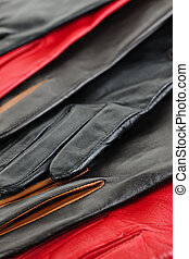 Leather gloves - Assorted selection of leather female gloves...