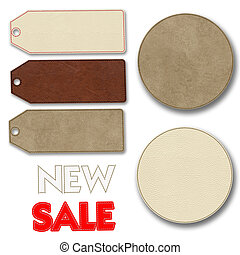 Leather label for sale promotion