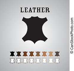 Leather Mark in Different Colors and Outlines