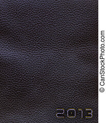 Leather new year 2013 background. Black.