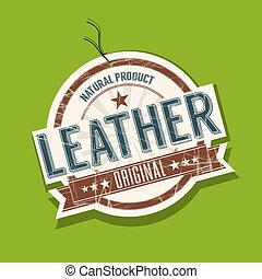 Leather product tag
