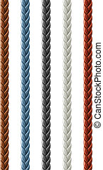 leather seamless braided plait vector illustration isolated ...