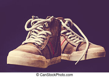 Leather shoes casual style - Leather shoes with long laces ...