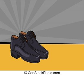 leather shoes pop art HD animation
