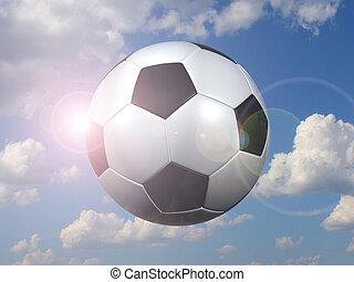soccer ball against the sky
