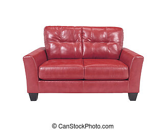 Leather sofa isolated on white