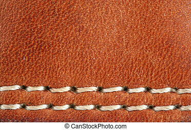 A Leather baseball glove macro background