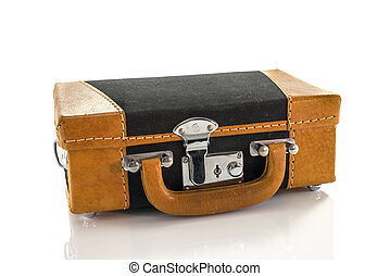 leather suitcase toy model