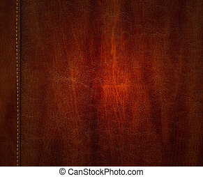 Leather texture background - Close-up of brown leather...