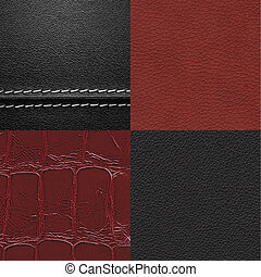 Leather texture set