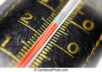 Leather thermometer