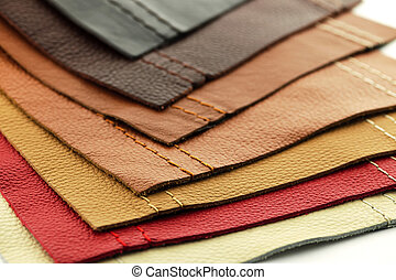 Leather upholstery samples - Natural leather upholstery...