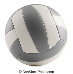 Leather volleyball isolated on a white background
