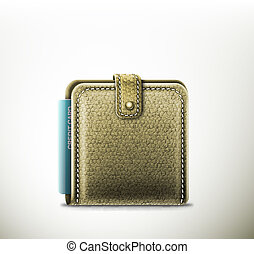 Leather wallet - Isolated leather wallet with credit card....