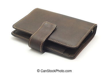 wallet - leather wallet isolated on white