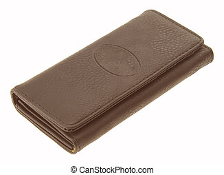 wallet - Leather wallet on a white background