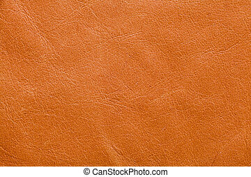 Leather With Creases - Abstract background of tan leather...