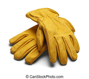 Leather Work Gloves - Yellow Construction Work Gloves...