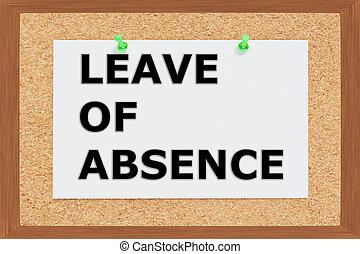 Leave of Absence concept - Render illustration of Leave of...
