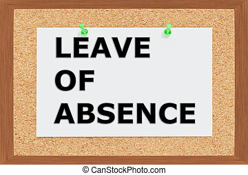 Leave of Absence concept - Render illustration of Leave of...