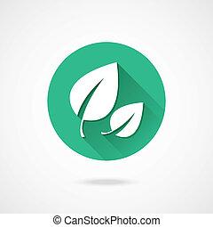 leaves, вектор, значок