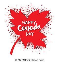 leaves., カナダ, 幸せ, 日, かえで