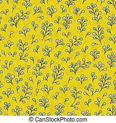 Leaves background, vector floral leaves seamless pattern