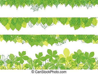 leaves banners