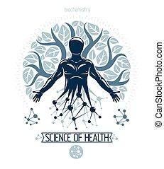 leaves., deriving, ベクトル, 分子, 接続, 個人, 木, idea., 作成される, 資源, ...