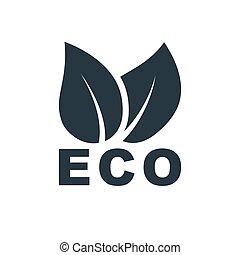 leaves eco icon
