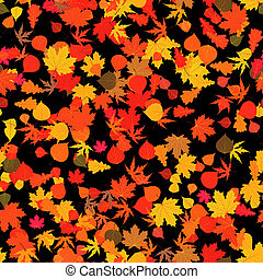 leaves., eps, automne, clair, 8, rouges