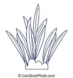 leaves foliage nature botanical isolated icon design line style