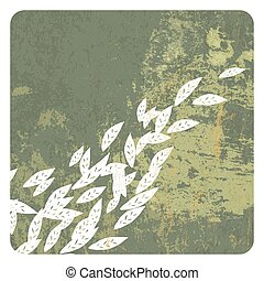 Leaves grunge background