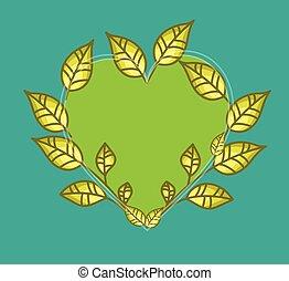 Leaves Heart Frame