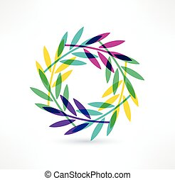 Leaves icon. Natural motive. Logo design.