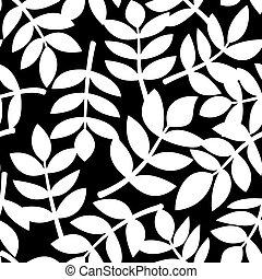 Leaves illustration, vector seamless pattern